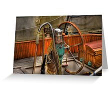 at the helm Greeting Card