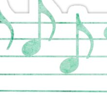 BLUES - Words in Music - Teal Green -  V-Note Creations Sticker