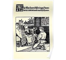 The Wonder Clock Howard Pyle 1915 0337 The Blacksmith Brings Wonderful Little Bird and Tree To Queen Poster