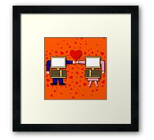 Internet Dating Framed Print