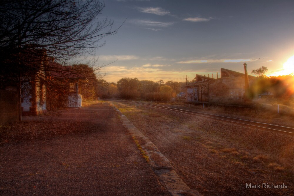 No Stops! - Old Nairne Railway Station, Adelaide Hills by Mark Richards