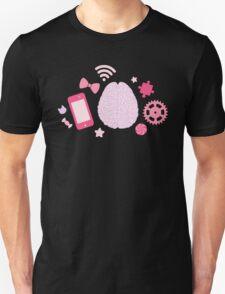 Girl's Brain Pattern Unisex T-Shirt