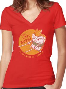 The Last Sushi Women's Fitted V-Neck T-Shirt