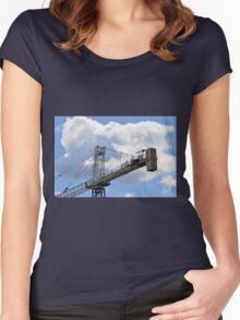 Crane counterweight Women's Fitted Scoop T-Shirt