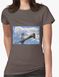 Crane counterweight Womens Fitted T-Shirt