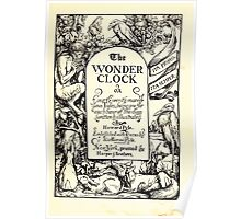 The Wonder Clock Howard Pyle 1915 0011 Title Plate Poster