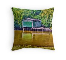 The Old Boathouse Throw Pillow