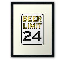 Beer Limit Framed Print