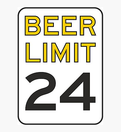 Beer Limit Photographic Print