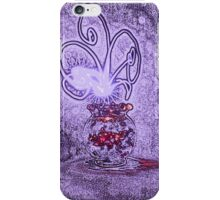 Vase with light flower - purple iPhone Case/Skin