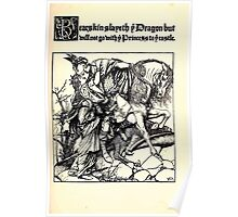 The Wonder Clock Howard Pyle 1915 003 Bearskin Slayth Dragon1 Poster