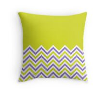 Chartreuse and lilac Chevrons Throw Pillow