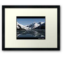 Reflections - Portage Glacier  Framed Print