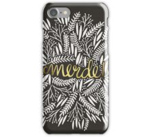 Pardon My French – Gold on Black iPhone Case/Skin