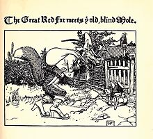 The Wonder Clock Howard Pyle 1915 0107 The Great Red Fox Meets Old Blind Mole by wetdryvac