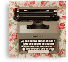 Sweet Vintage Typewriter  Canvas Print