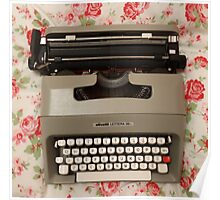 Sweet Vintage Typewriter  Poster