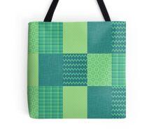 Patchwork Patterns - Seafoam Green Tote Bag