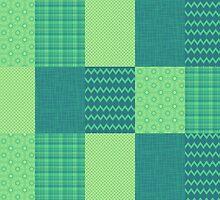 Patchwork Patterns - Seafoam Green by SRowe Art