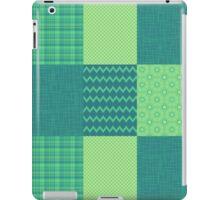 Patchwork Patterns - Seafoam Green iPad Case/Skin