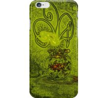 Vase with light flower - green iPhone Case/Skin