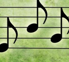 SING - Words in Music green Background - V-Note Creations Sticker