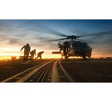 MH-60S Seahawk Helicopter Photographic Print