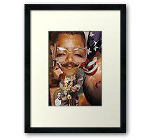 """It's Mo'vember time for Obama........"" Framed Print"