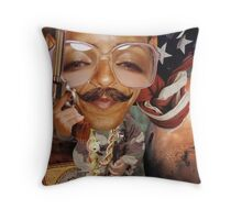 """It's Mo'vember time for Obama........"" Throw Pillow"