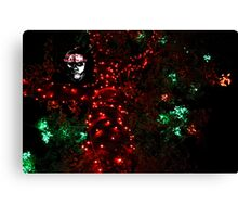 Red Christmas lights (Tree) Canvas Print