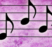 SING - Words in Music Fuchsia Pink Background - V-Note Creations Sticker
