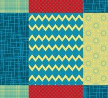 Patchwork Patterns - Muted Primary Sticker