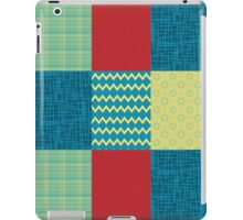 Patchwork Patterns - Muted Primary iPad Case/Skin