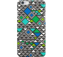 Squares &Triangles in Blue Green iPhone Case/Skin