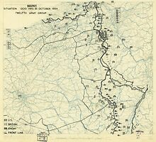 World War II Twelfth Army Group Situation Map October 21 1944 by allhistory