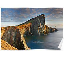 Evening sunset at Neist Point Isle of Skye Scotland Poster
