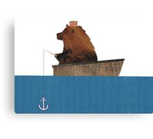 Cheltenham the Bear: Fishing Trip Canvas Print