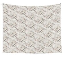 Pebbles, Cowrie & Abalone Shells Wall Tapestry