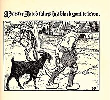 The Wonder Clock Howard Pyle 1915 0189 Master Jacob Takes His Black Goat to Town by wetdryvac