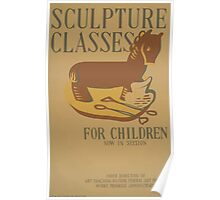 WPA United States Government Work Project Administration Poster 0647 Sculpture Classes for Children Poster