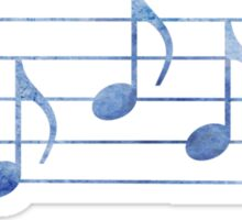 SING - Words in Music - Blue -  V-Note Creations Sticker