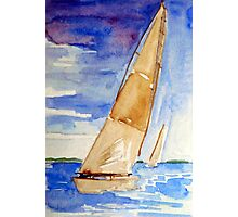 Racing the Wind - watercolour on paper Photographic Print