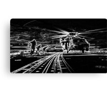 MH-60R Seahawk Helicopter Silhouette Canvas Print