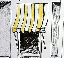 The French Window - pen/pastel on paper by ChristineBetts