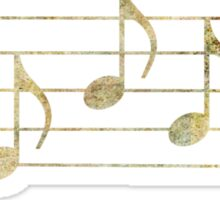 SING - Words in Music - Earth Tones -  V-Note Creations Sticker