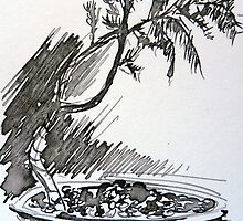 Bonsai - pen/ink by ChristineBetts