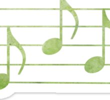 SING - Words in Music - Green -  V-Note Creations Sticker