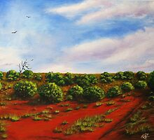 Salt bush and spinifex by Kerry Wembridge Ziernicki