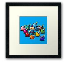 Bomberman Rainbow Bomb Set pixel art by PXLFLX Framed Print