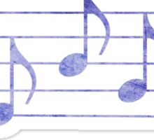 SING - Words in Music - Purple -  V-Note Creations Sticker